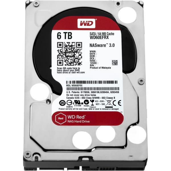 DISCO DURO 6TB WD SATA3 64MB WD60EFRX RED EDITION (NAS EDITION)