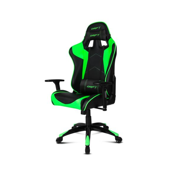 Silla gaming drift dr300 verde negro pcbox for Silla gaming con altavoces