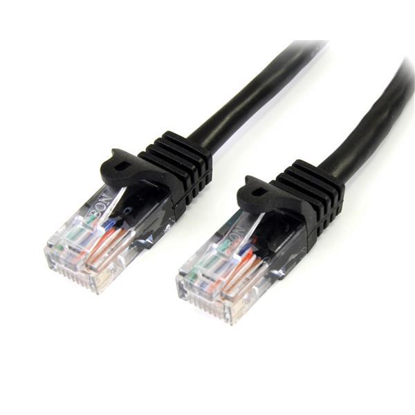 0.5M BLACK CAT5E CABLE SNAGLESS ETHERNET CABLE - U TP