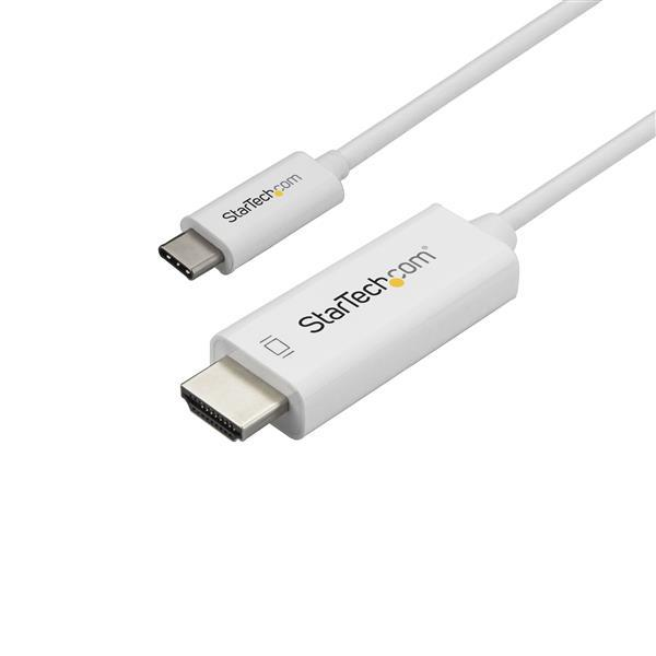 1M / 3FT USB C TO HDMI CABLE - 4K AT 60 HZ - WHI TE