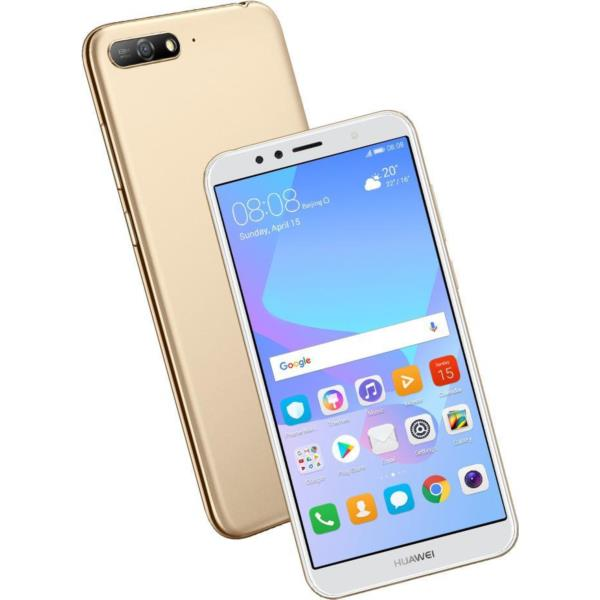 """TELEFONO MOVIL LIBRE HUAWEI Y6 2018 5.7"""" IPS/4G/QUAD CORE 1.4GHZ/2GB RAM/16GB/ANDROID 8.0/ORO"""