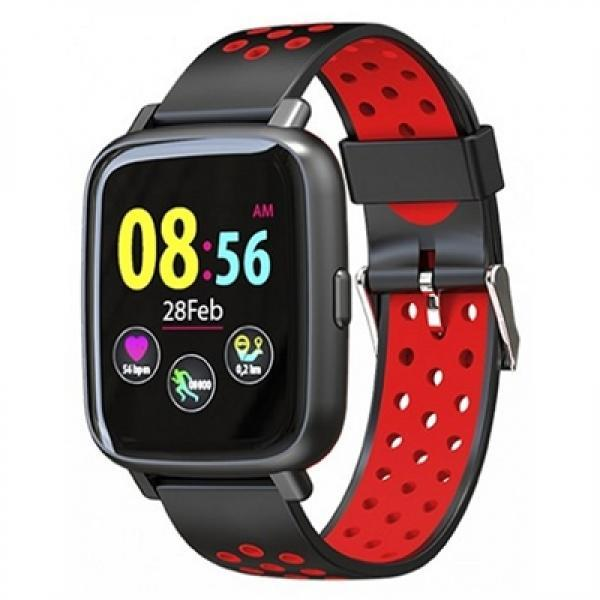 SMARTWATCH BILLOW XS35 SPORTWATCH TENSION IP67 NEGRO-ROJO