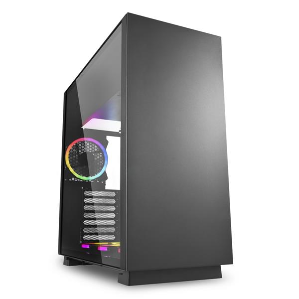 CAJA SEMITORRE SHARKOON PURE STEEL VENTANA LED RGB S/F USB 3.0 NEGRO