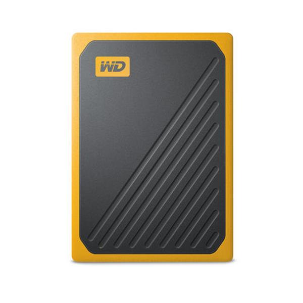 DISCO DURO EXTERNO SSD 500GB WESTERN DIGITAL MY PASSPORT GO USB 3.0  AMARILLO