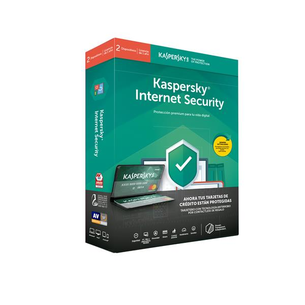 KASPERSKY KIS INTERNET SECURITY  2 DISPOSITIVOS 1 AÑO + TARJETERO DE REGALO (cardholder)