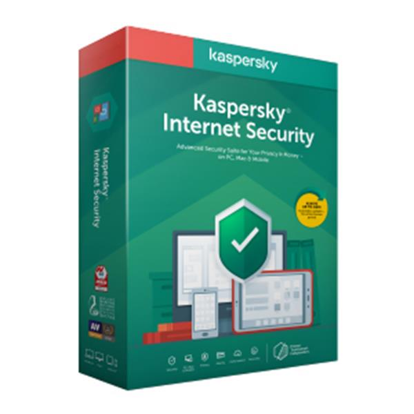 ANTIVIRUS KASPERSKY INTERNET SECURITY 2020 - RENOVACION 3 DISPOSITIVOS - 1 AÑO - NO CD