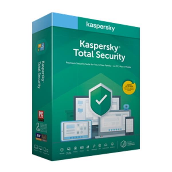 Antivirus Kaspersky Total Security KTS 3 Dispositivos 1 Año - PCBox