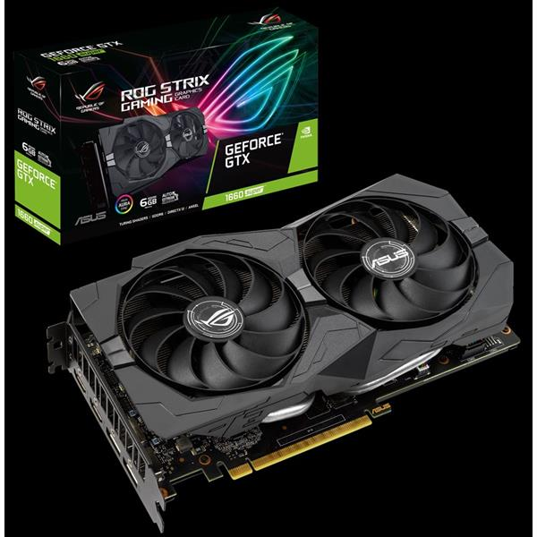 TARJETA GRAFICA 6GB ASUS GEFORCE GTX 1660 SUPER ROG STRIX GAMING 6G PCX GDDR6 HDMI/DPORT