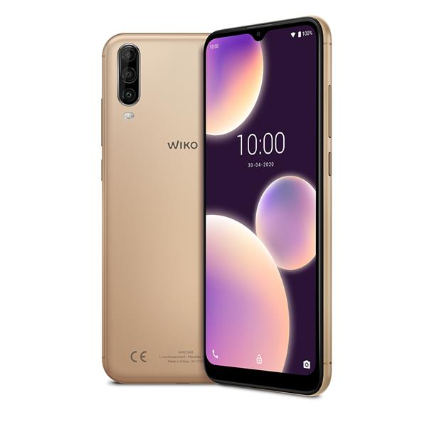 """TELEFONO MOVIL LIBRE WIKO VIEW4 LITE 6.52"""" IPS/ OC 1.8Ghz/2GB/ 32GB/ AND 10.0/GOLD"""