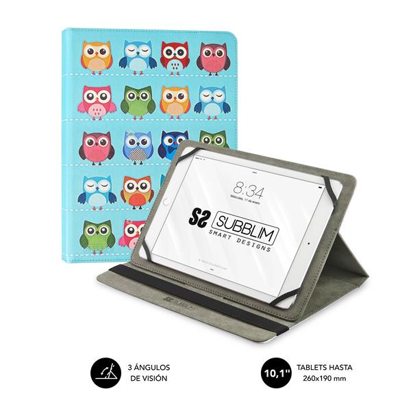 FUNDA TABLET 10,1´´ SUBBLIM TRENDY CASE OWLS