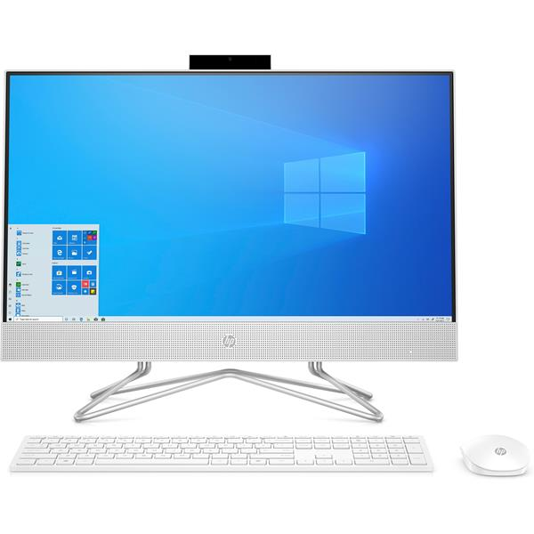 """ORDENADOR ALL IN ONE HP 24-DF0075NS i3-10100T 23.5"""" TACTIL 8GB 512SSD  WIFI BLUETOOTH W10 COLOR BLANCO NIEVE TECLADO MOUSE INALAMBRICO"""
