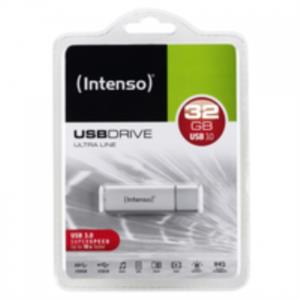 MEMORIA 32 GB REMOVIBLE INTENSO USB 3.0 ULTRA PLATA