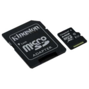 MEMORIA 64 GB MICRO SDHC KINGSTON G2 CLASE 10 UHS-I + ADAPTADOR SD