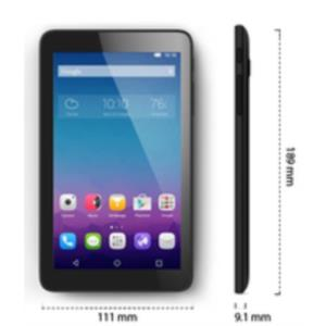 "TABLET ALCATEL PIXI3 7""/512MB RAM/8GB/ANDROID 4.4/QUAD CORE ARM A7 1.2GHZ/NEGRA"