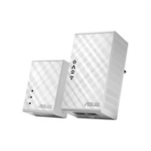 KIT 2 ADAPTADOR DE HOMEPLUG ETHERNET ASUS PL-N12 500MBPS WIFI