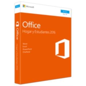 MICROSOFT OFFICE 2016 HOME&STUDENT PKC 1 USUARIO