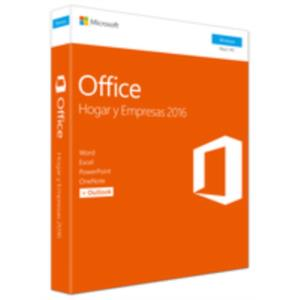 MICROSOFT OFFICE 2016 HOME&BUSINESS PKC 1 USUARIO