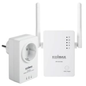 KIT 2 ADAPTADOR DE HOMEPLUG ETHERNET EDIMAX HP-5101WNK AV500 WIFI SIN PERDIDA DE ENCHUFE