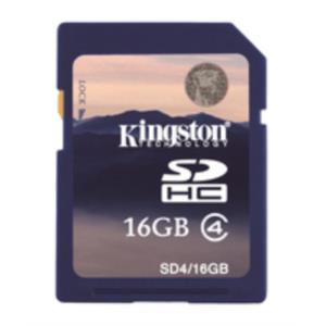 MEMORIA 16 GB SDHC KINGSTON CLASE 4