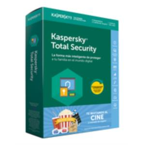 ANTIVIRUS KASPERSKY TOTAL SECURITY 3 USU+ENTRADAS CINE