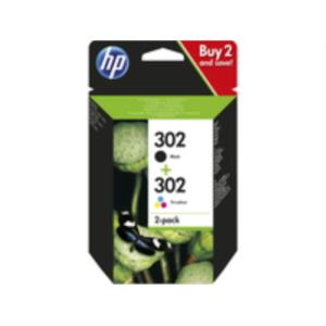 PACK COMBO CARTUCHOS HP 302 NEGRO + TRICOLOR