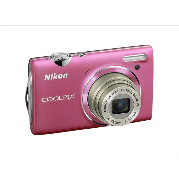 CAMARA NIKON COOLPIX S5100 ROSA FUNDA+SD2GB 12MP W5X VR VIDEO HD