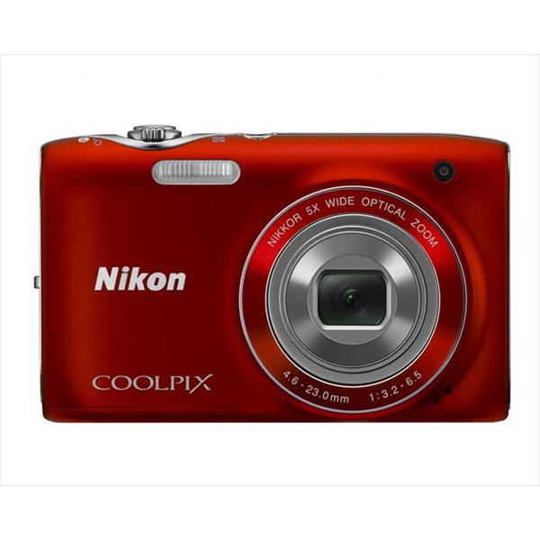 "CAMARA NIKON COOLPIX S3100 ROJA 14MP W5X 2,7"" VR VIDEO HD FUNDA+SD4GB+TRIPODE"