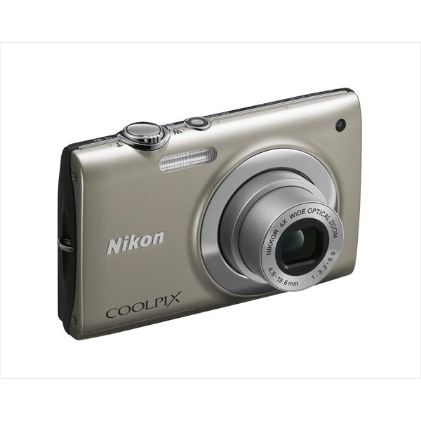 "CAMARA NIKON COOLPIX S2500 PLATA 12MP W4X 2,7"" VR ISO 3200 3 FUNDAS SILICONA COLORES+SD4GB"