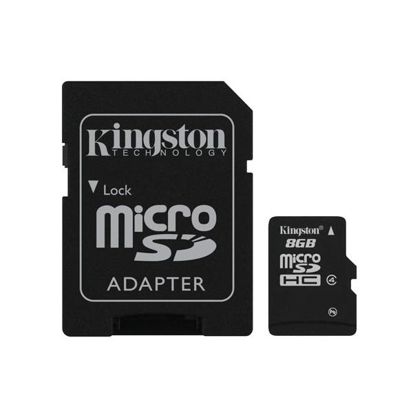 MEMORIA 8 GB MICRO SD HC KINGSTON