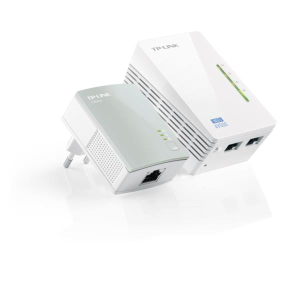 KIT 2 ADAPTADOR DE HOMEPLUG 300MBPS TP-LINK + WIFI N