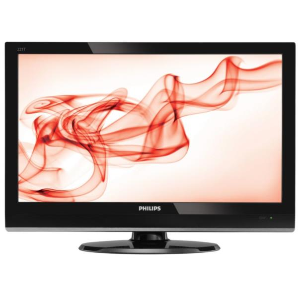 "MONITOR TV LCD 22"" PHILIPS 221T1SB 1920X1080 16:9 5Ms 1000:"