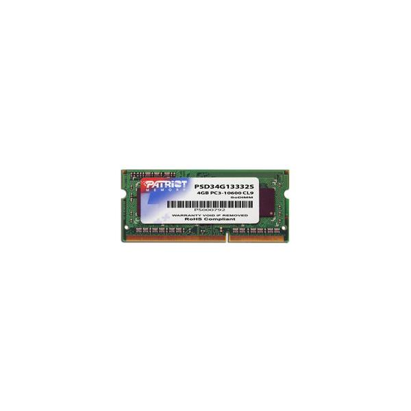 MEMORIA PORTATIL 4 GB DDR3 1333 PATRIOT CL9
