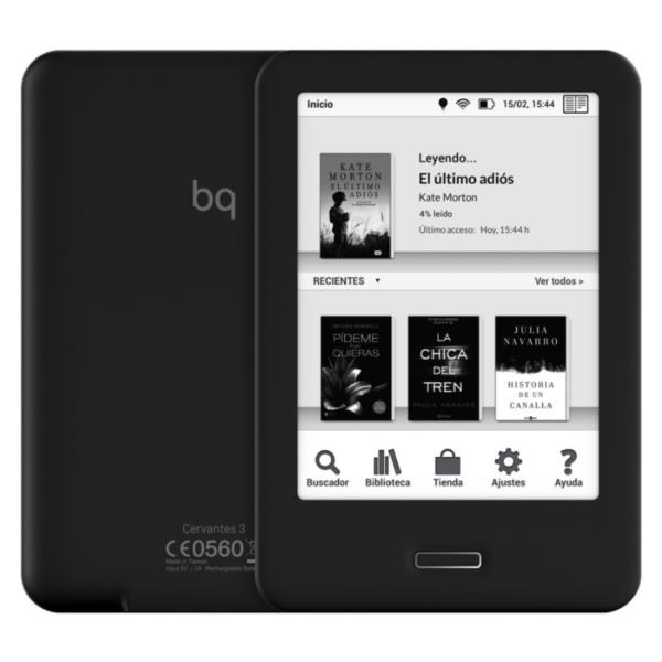 "LIBRO ELECTRONICO 6"" BQ CERVANTES3 8GB TACTIL, LUZ INTEGRADA"