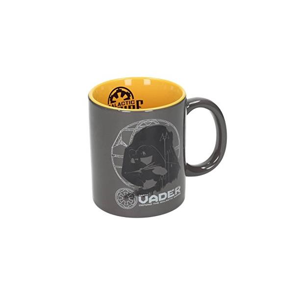 TAZA CERAMICA DARTH VADER GRIS-AMARILLA SW: ROGUE ONE