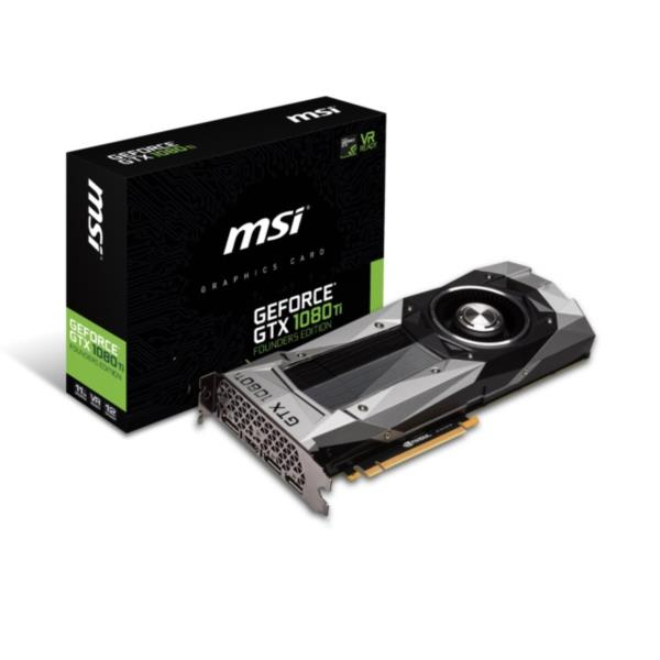 TARJETA GRAFICA 11GB MSI GEFORCE GTX 1080 TI FOUNDERS EDITION PCX GDDR5 HDMI/DPORT/DVI-D