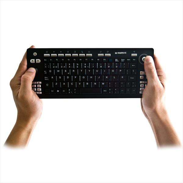 TECLADO INALAMBRICO B-MOVE BM-T02 MEDIA CENTER + TRACKBALL MINI NEGRO