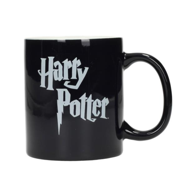 Taza Ceramica Logo Harry Potter Blanco Y Negro Harry Potter Pcbox
