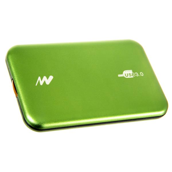 "CAJA EXTERNA SHIELD ALUMINIO HDD 2.5"" NETWAY USB 3.0 SCREWLESS VERDE"