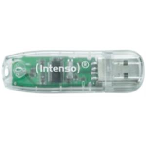 MEMORIA 32 GB REMOVIBLE INTENSO USB 2.0 RAINBOW TRANSPARENTE