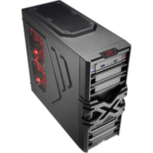CAJA SEMITORRE AEROCOOL STRIKE-X ONE ADVANCE NEGRA S/F GAMING USB3.0 + VENT. 12CM FRONTAL ROJO