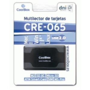 LECTOR DNI ELECTRONICO COOLBOX USB2.0 NEGRO