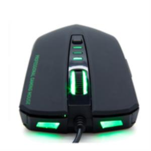 RATON B-MOVE OPTICO VENOM GAMING NEGRO USB 2400DPI LED VERDE