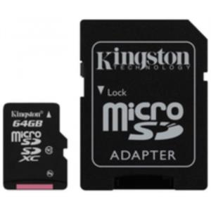 MEMORIA 64 GB MICRO SDXC KINGSTON CLASE 10 + ADAPTADOR SD