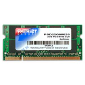 MEMORIA PORTATIL 2 GB DDR2 800 PATRIOT CL5