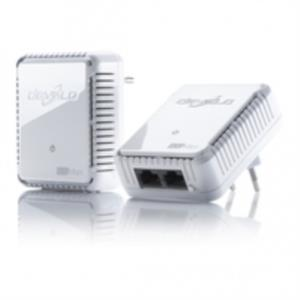 KIT 2 ADAPTADOR DE HOMEPLUG ETHERNET DEVOLO 500MBPS CON SWITCH 2 PUERTOS