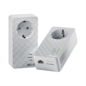 KIT 2 ADAPTADOR DE HOMEPLUG ETHERNET ASUS PL-E52P DUO 600MBPS SIN PERDIDA DE ENCHUFE