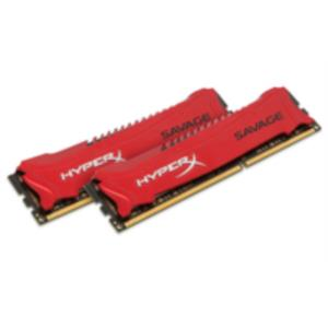 MEMORIA KIT 8 GB(2X4 GB) DDR3 1600 KINGSTON HYPERX SAVAGE CL9 ROJO