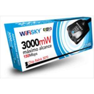 TARJETA DE RED INAL. WIFISKY USB2.0 150MBPS 3W ANT. DESMONTABLE 11DBI