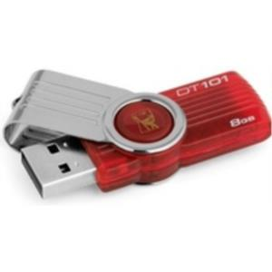 MEMORIA 8 GB REMOVIBLE KINGSTON USB2.0 DT101G2 ROJA
