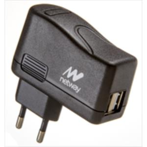 CARGADOR USB PARED NETWAY 2 USB 2,1A